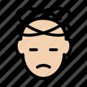dizzy, head, headache, illness, pain