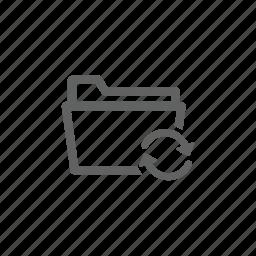 document, folder, update, updating icon
