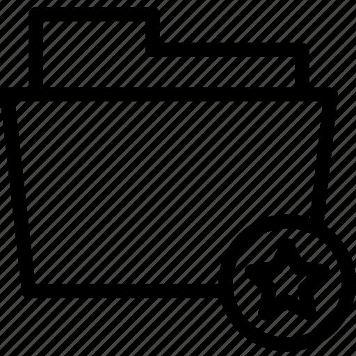 Star, favorite, file, folder, document, data icon
