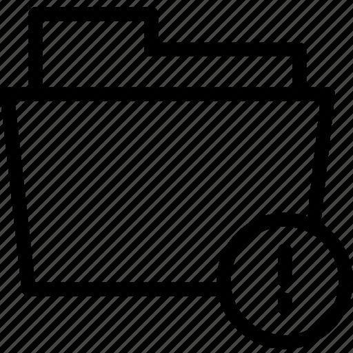 data, document, error, file, folder, problem icon