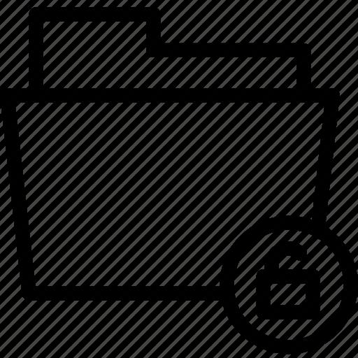 data, document, documents, file, files, folder, unlock icon