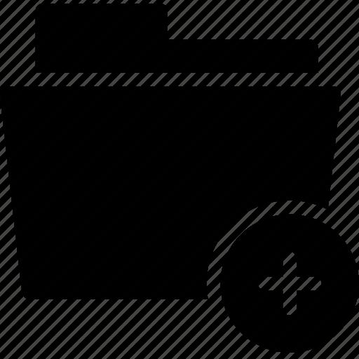 add, data, document, file, folder icon