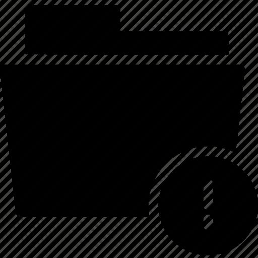 data, denied, document, error, file, folder, problem icon