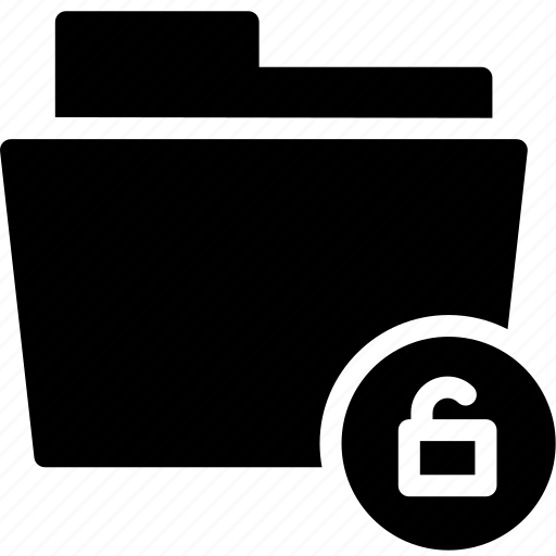 data, document, file, folder, unlock, unlocked icon