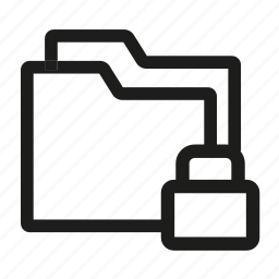 drive, file, folder, lock, sotrage icon