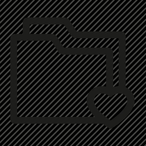folder, like, love icon