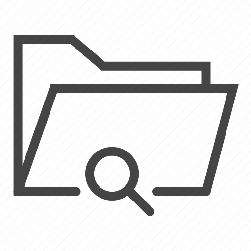 data, document, files, folder, magnifier, search, zoom icon