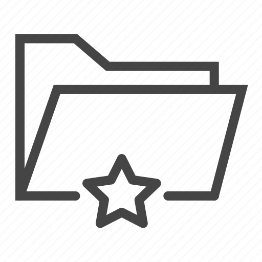 archive, document, documents, favorite, file, folder, star icon
