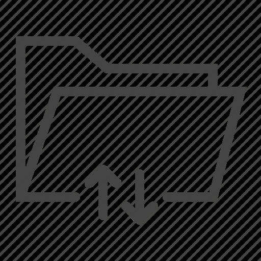 document, download, extension, file, folder, paper, upload icon