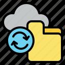 cloud, document, file, folder, sync