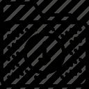 arrow, download, file, folder, storage, transfer icon