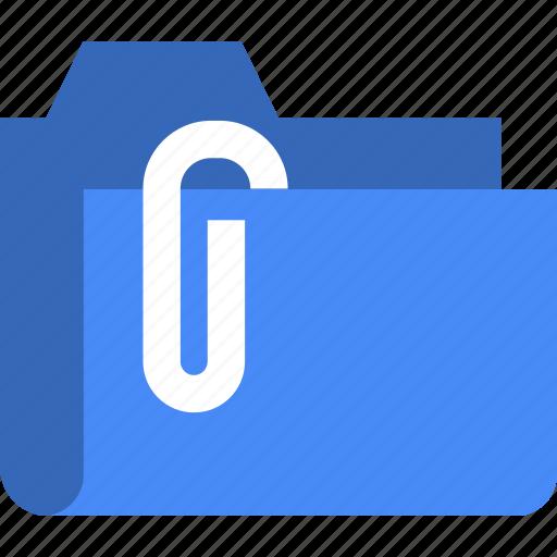 attached, attachment, document, file, folder icon
