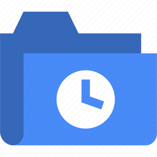 clock, document, file, folder, time icon
