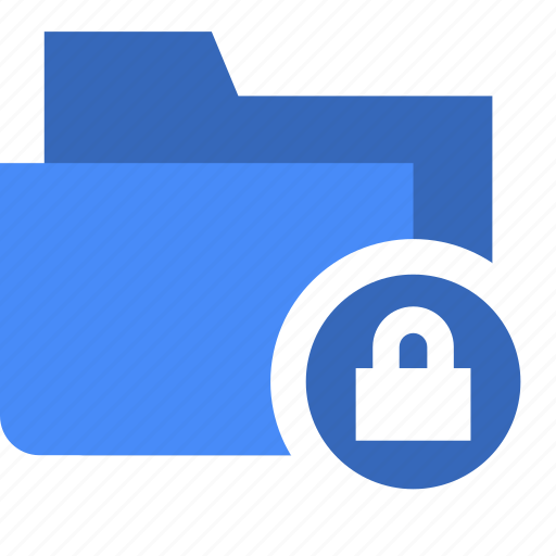 document, file, folder, lock, security icon