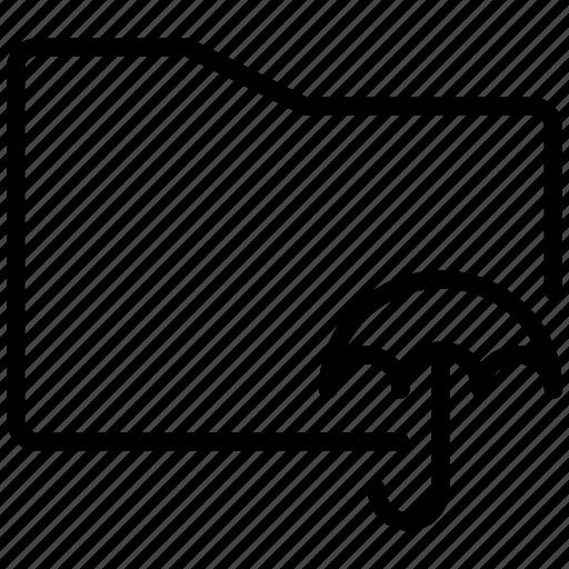 backup, backups, insurance, investment, protection, rain, security, umbrella, weather icon