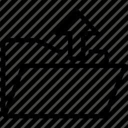 arrow, up, upload, uploads icon
