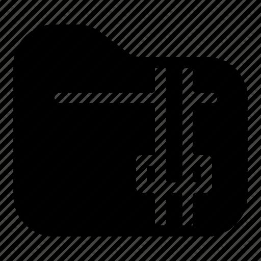 document, file, folder, storage, zip icon