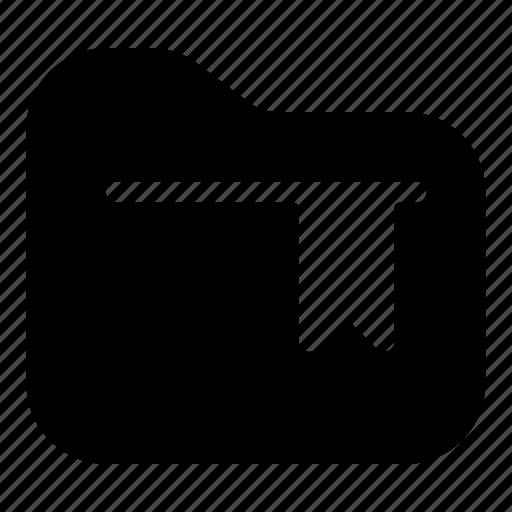 bookmark, document, file, folder, mark, storage icon