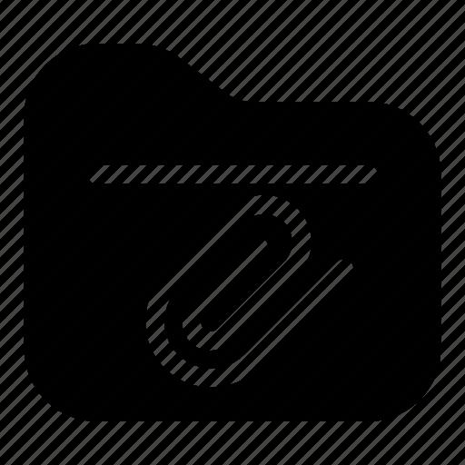 attach, attachment, document, file, folder, storage icon
