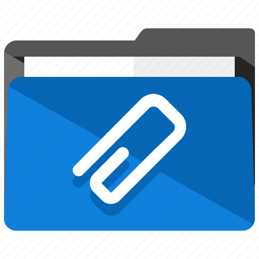 archive, attachment, clip, folder, paperclip icon