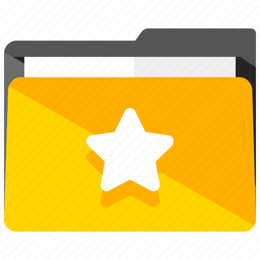 archive, bookmark, favourite, folder, star icon