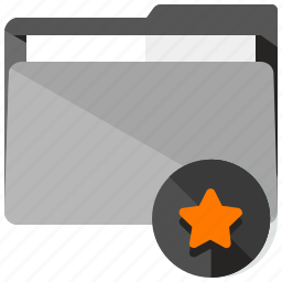 archive, bookmark, favourite, folder, star icon