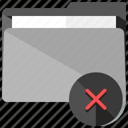 archive, cancel, closer, delete, folder, remove icon