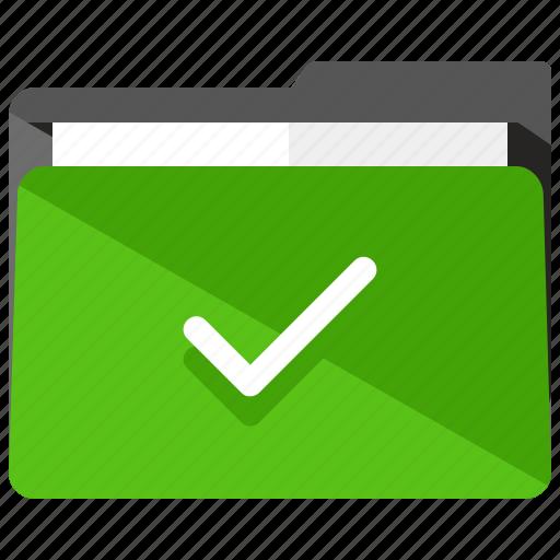 approve, archive, checkmark, confirm, folder icon