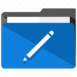 archive, edit, folder, pen, pencil, write icon