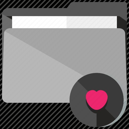 archive, favourite, folder, heart, like, love icon