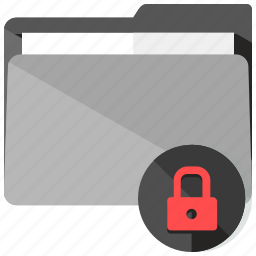archive, folder, lock, locked, safety, security icon