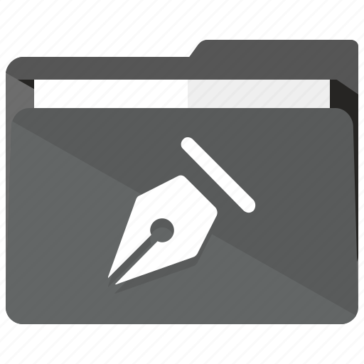 archive, document, folder, pen, write icon