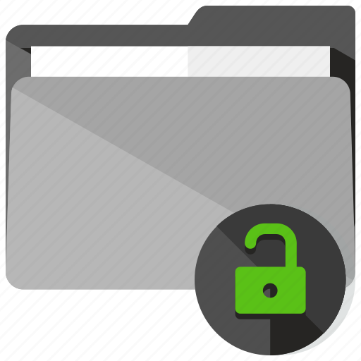 archive, folder, lock, safety, security, unlock icon