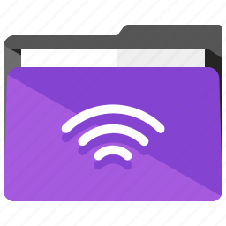 archive, folder, internet, share, wifi icon
