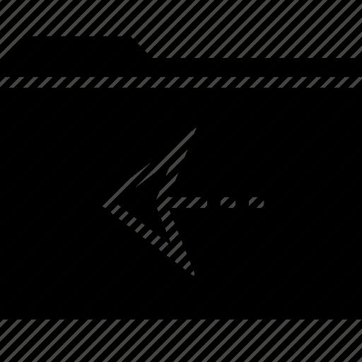 file, folder, left, point, pointer icon