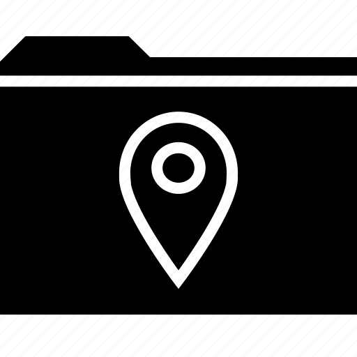 archive, folder, gps, locate, location icon