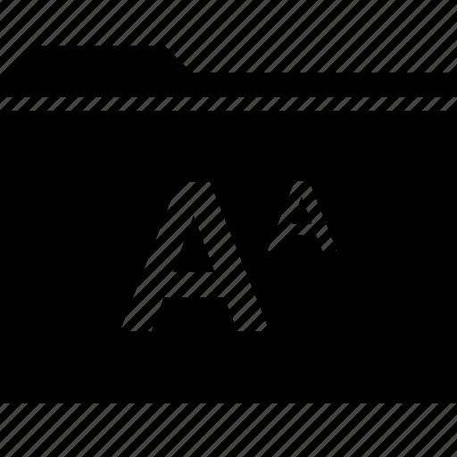 archive, folder, letter, lettering icon