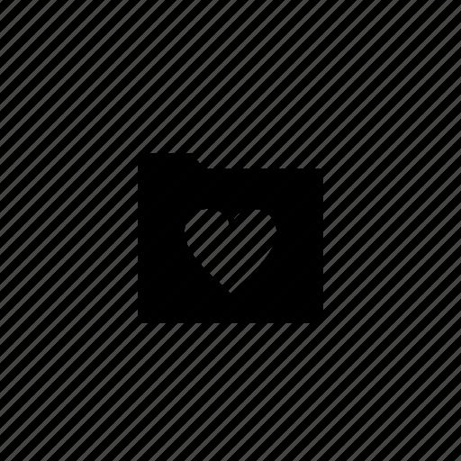 folder, love icon