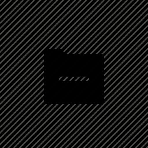 folder, minus icon