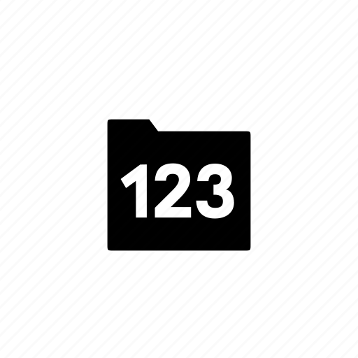 folder, numbered icon