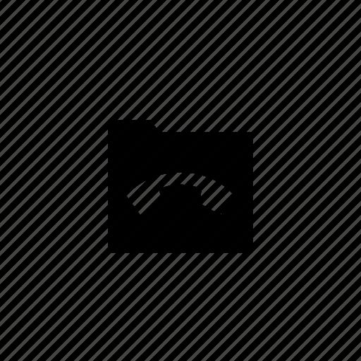 folder, phone icon