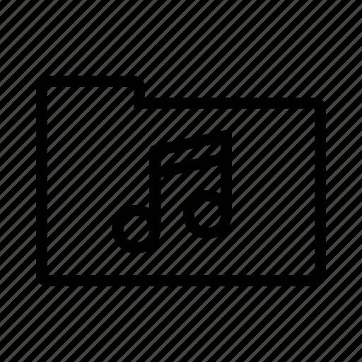audio, entertainment, folder, music, sound icon