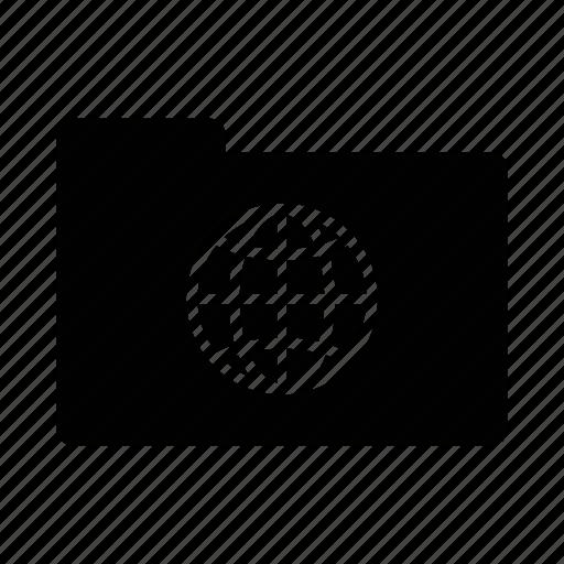 data, folder, public, shared icon