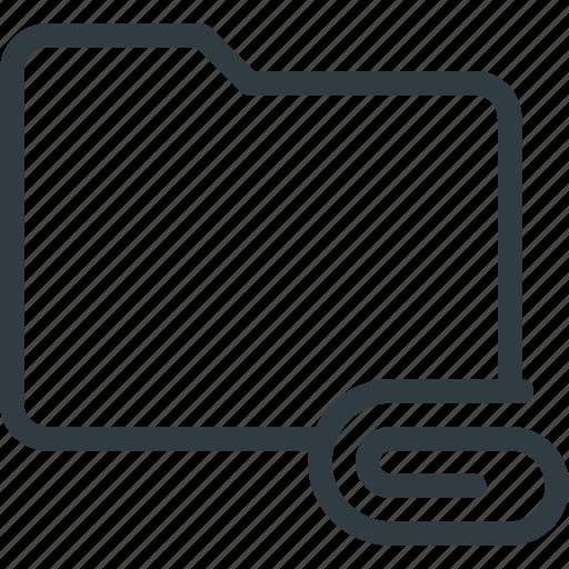 attache, directory, folder icon