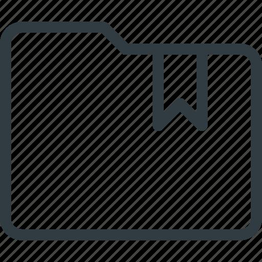 bookmark, directory, folder icon