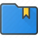 bookmark, directory, folder icon