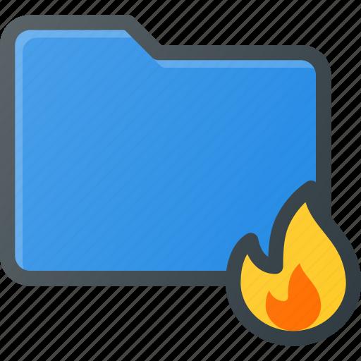 burn, directory, folder icon