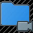 camera, directory, folder, video icon
