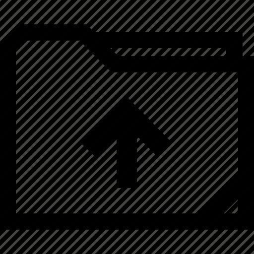 archive, arrow, up icon