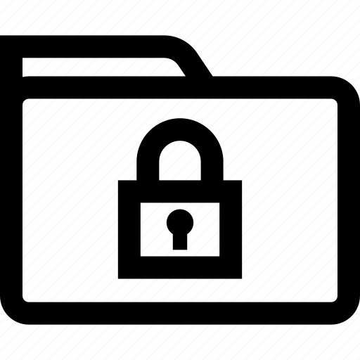folder, lock, safe, secured icon